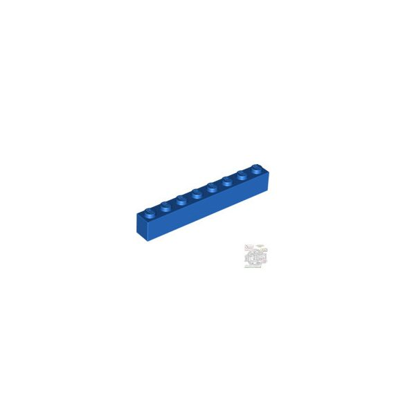 Lego Brick 1X8, Bright blue