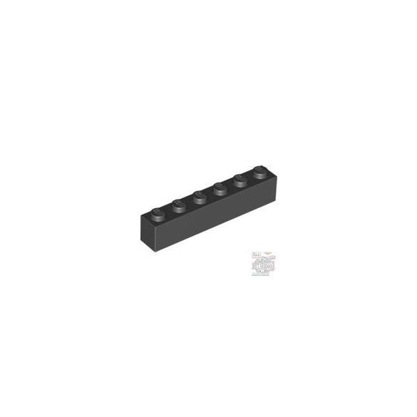 Lego Brick 1X6, Black