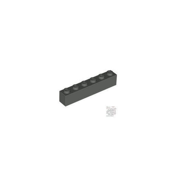 Lego Brick 1X6, Dark grey