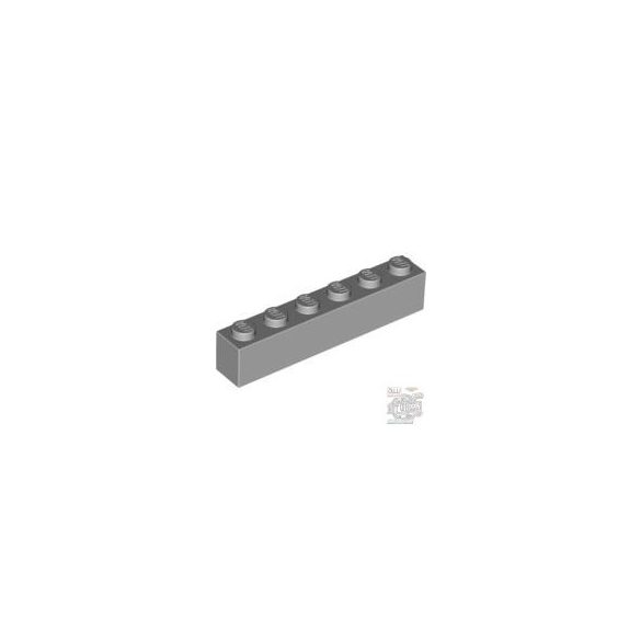 Lego Brick 1X6, Light grey