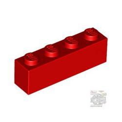 Lego BRICK 1X4, Bright red