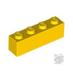 Lego BRICK 1X4, Bright yellow