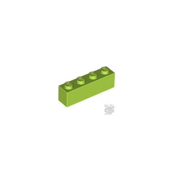 Lego BRICK 1X4, Bright yellowish green