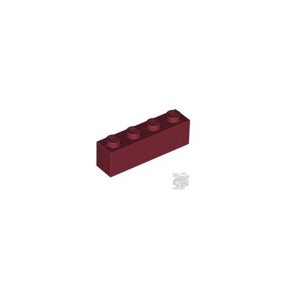 Lego Brick 1x4, Dark red