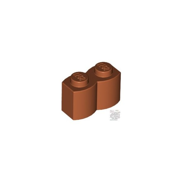 Lego Palisade Brick 1X2, Dark orange