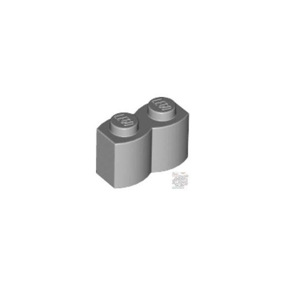 Lego Palisade Brick 1X2, Light grey