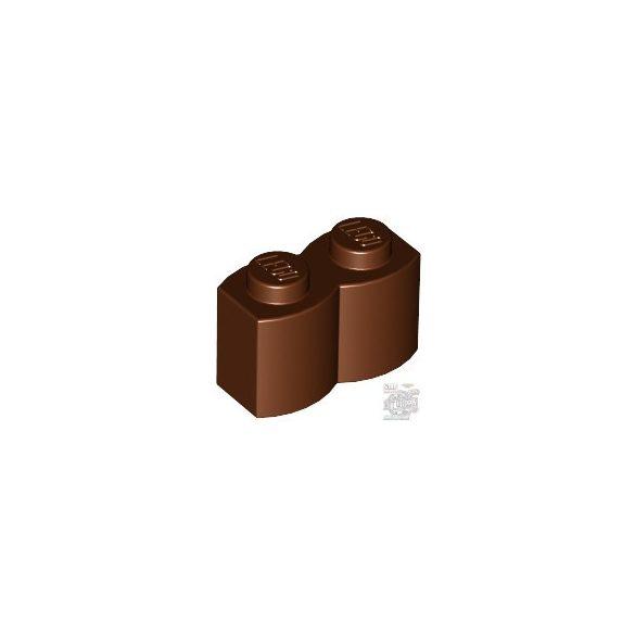 Lego Palisade Brick 1X2, Reddish Brown