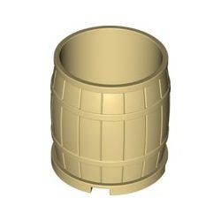 Lego Barrel 4X4 ( 30139 ), Tan