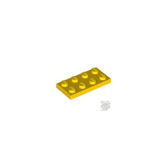 Lego Plate 2x4, Bright yellow