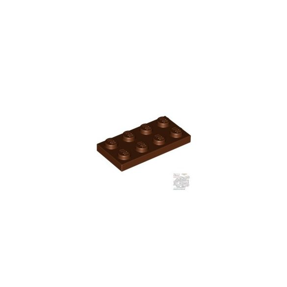 Lego Plate 2X4, Reddish brown