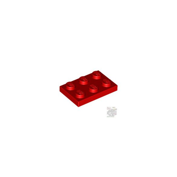 Lego Plate 2x3, Bright red