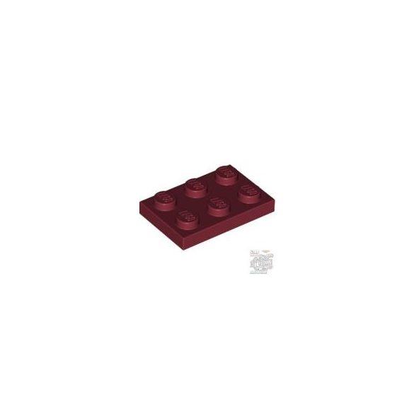 Lego Plate 2x3, Dark red