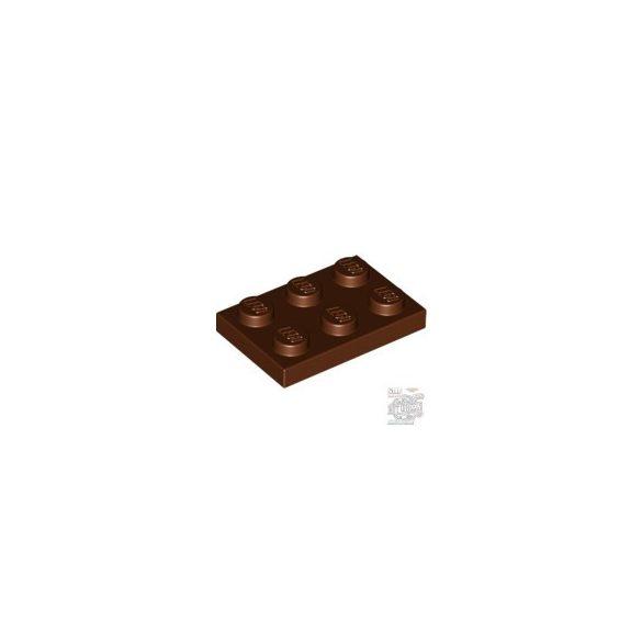 Lego Plate 2x3, Reddish brown