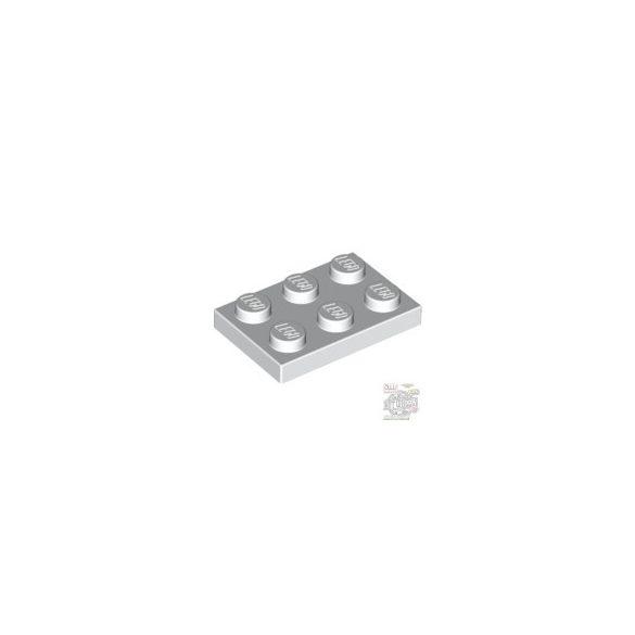 Lego Plate 2x3, White