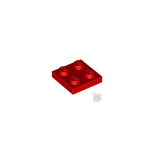 Lego Plate 2x2, Bright red