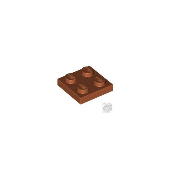Lego Plate 2x2, Dark orange
