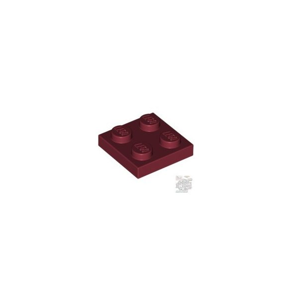 Lego PLATE 2X2, Dark red