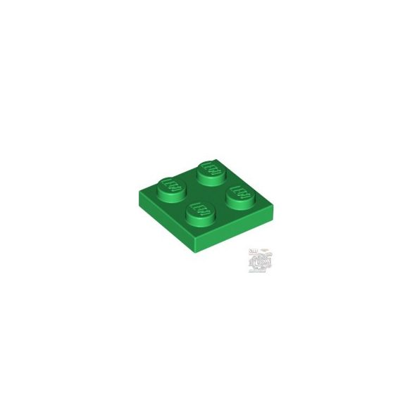 Lego Plate 2x2, Green