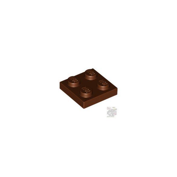 Lego Plate 2x2, Reddish brown