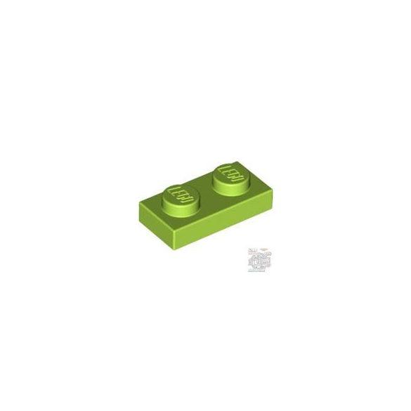Lego PLATE 1X2, Bright yellowish green