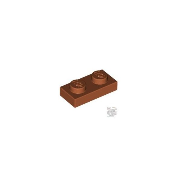Lego Plate 1X2, Dark orange