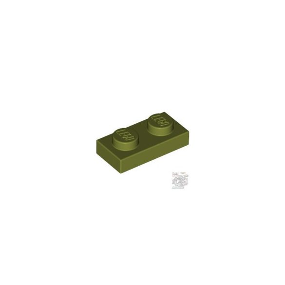 Lego PLATE 1X2, Olive green