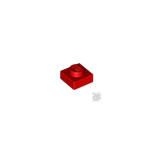 Lego PLATE 1X1, Bright red