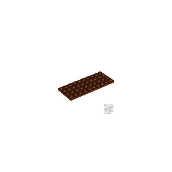 Lego Plate 4X10, Reddish brown