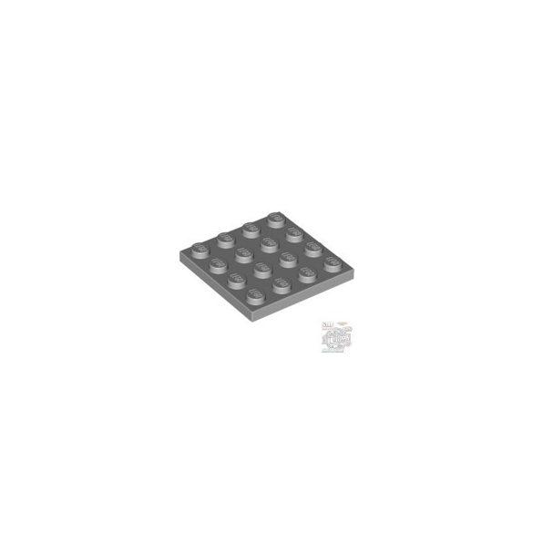 Lego Plate 4X4, Light grey