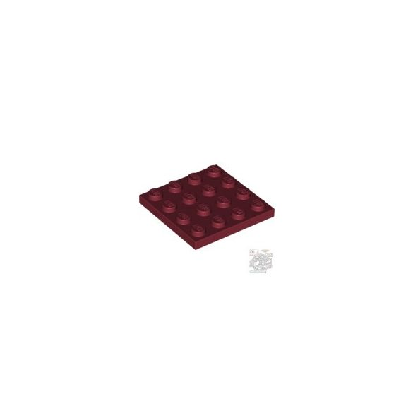 Lego Plate 4X4, Dark red