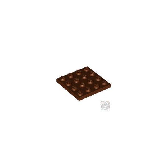 Lego Plate 4X4, Reddish brown