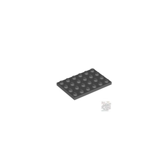 Lego Plate 4X6, Dark grey