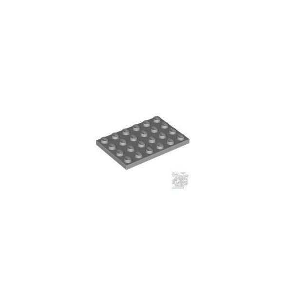 Lego Plate 4X6, Light grey
