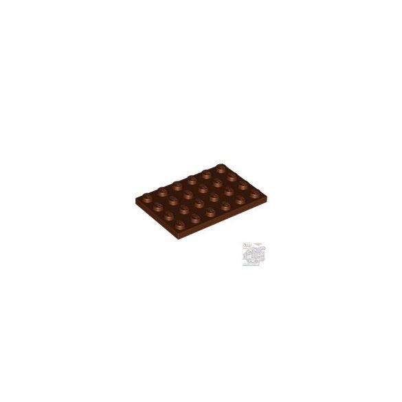 Lego Plate 4X6, Reddish brown