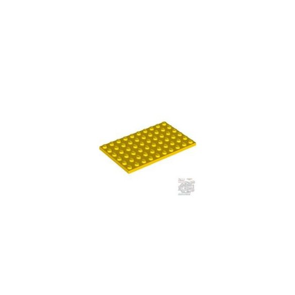 Lego Plate 6X10, Bright yellow