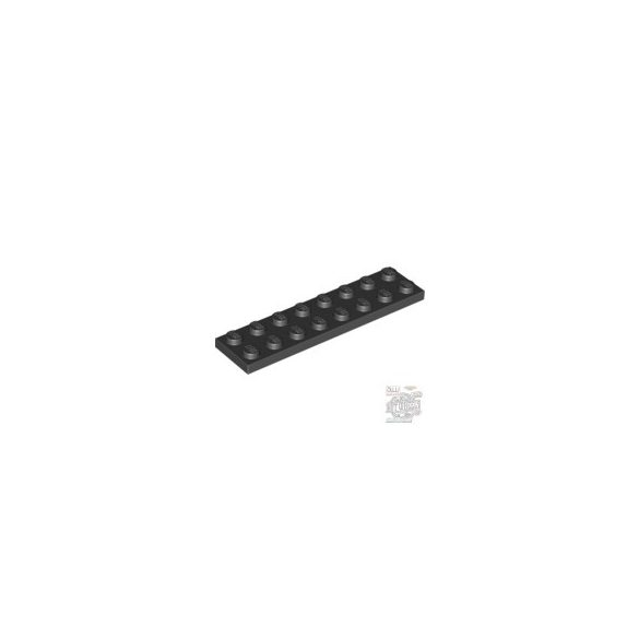 Lego Plate 2X8, Black