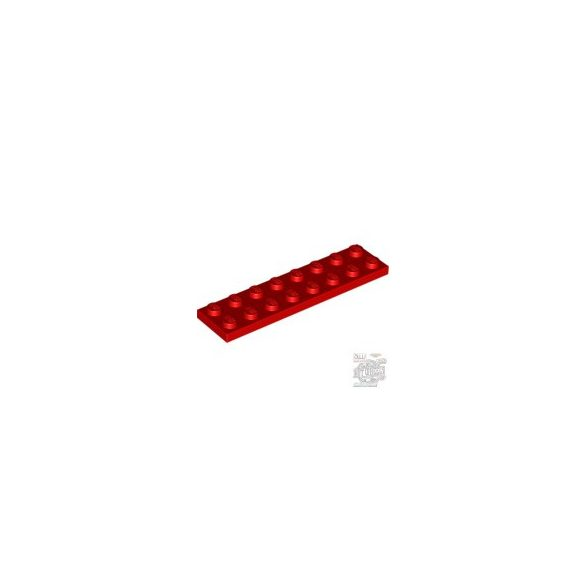 Lego Plate 2X8, Bright red