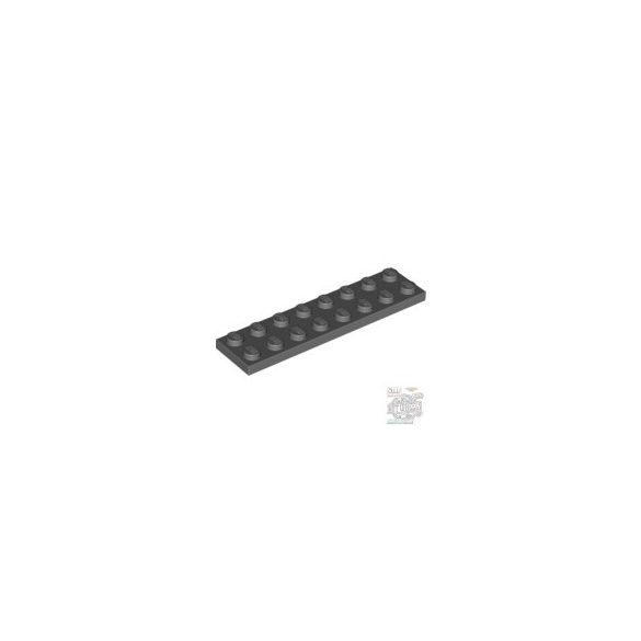 Lego Plate 2X8, Dark grey