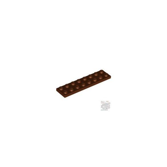 Lego Plate 2X8, Reddish brown