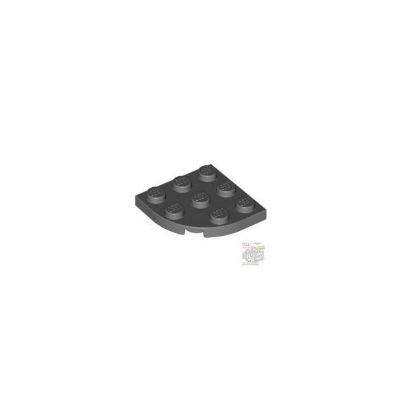 Lego Plate 3X3, 1/4 Circle, Dark grey