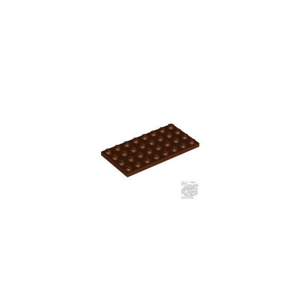 Lego Plate 4X8, Reddish brown