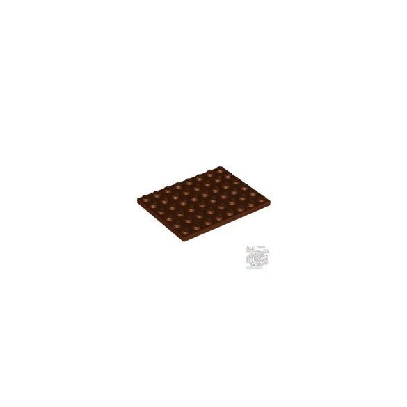 Lego Plate 6X8, Reddish brown