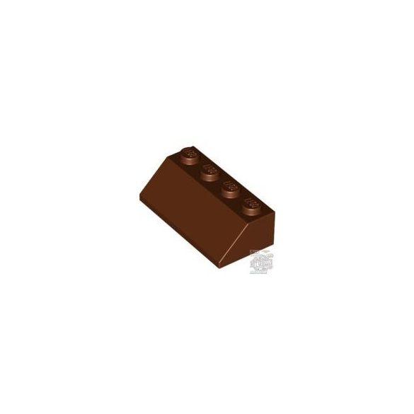Lego Roof Tile 2X4/45°, Reddish brown