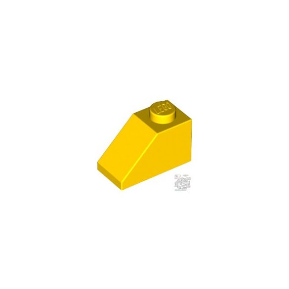 Lego ROOF TILE 1X2/45°, Bright yellow