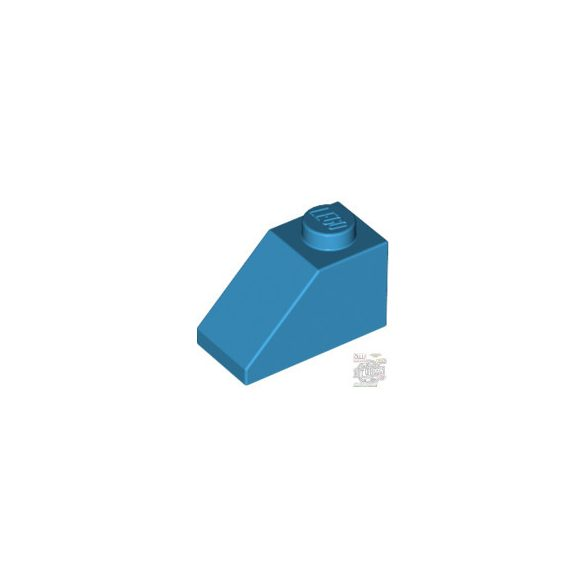 Lego ROOF TILE 1X2/45°, Dark azur