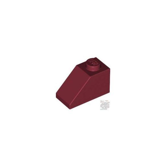 Lego ROOF TILE 1X2/45°, Dark red