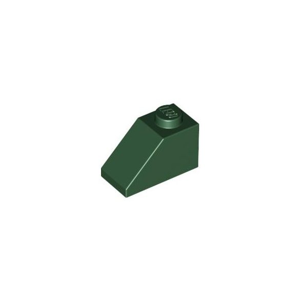 Lego ROOF TILE 1X1X2/3, ABS, Earth green