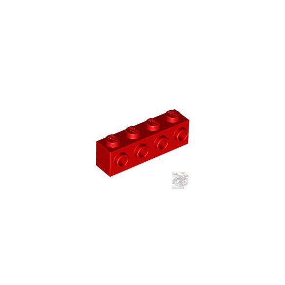 Lego BRICK 1X4 W. 4 KNOBS, Bright red