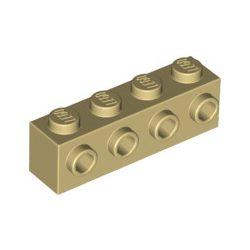 Lego BRICK 1X4 W. 4 KNOBS, Tan