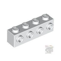 Lego BRICK 1X4 W. 4 KNOBS, White